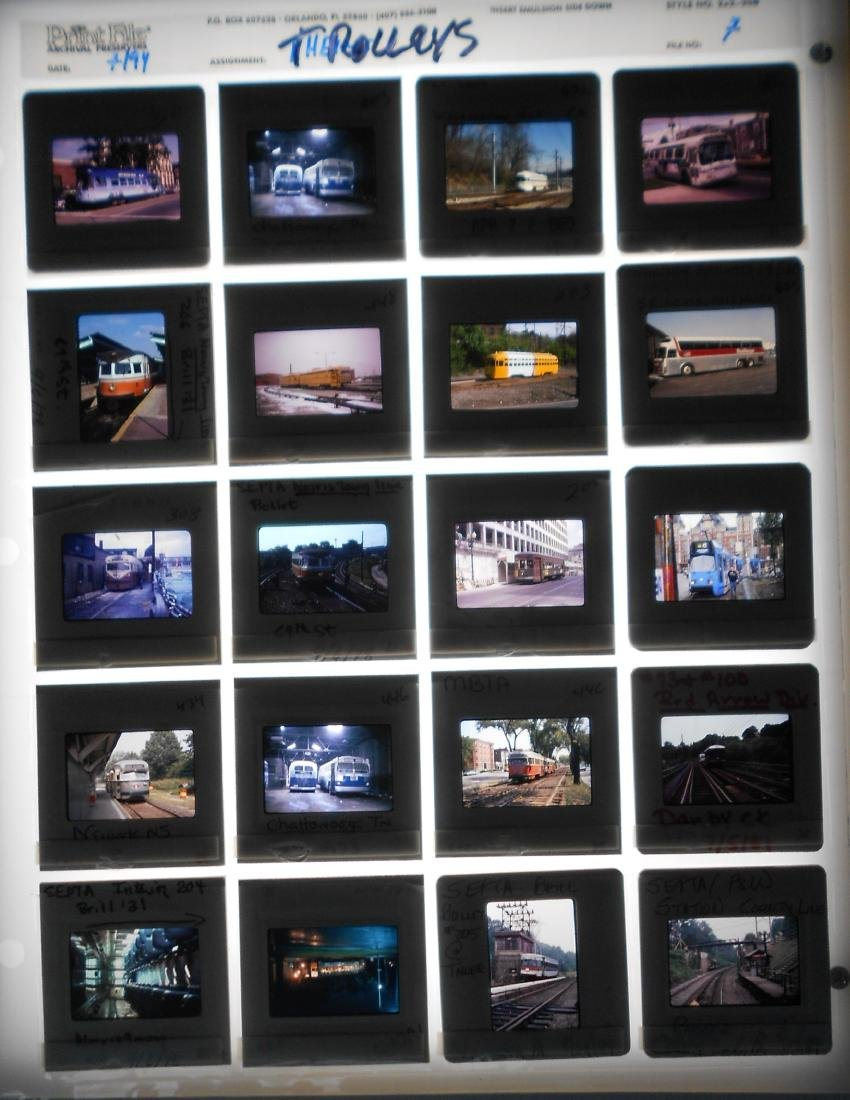 Railroad Locomotive & Rolling Stock Color Slides (200) - 3