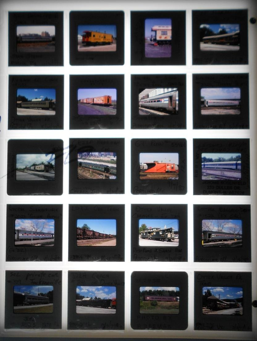Railroad Locomotive & Rolling Stock Color Slides (200) - 4