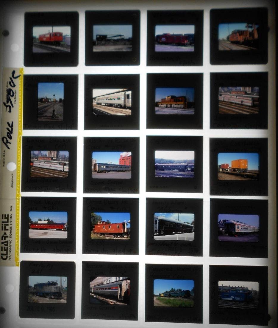 Railroad Locomotive & Rolling Stock Color Slides (200) - 5