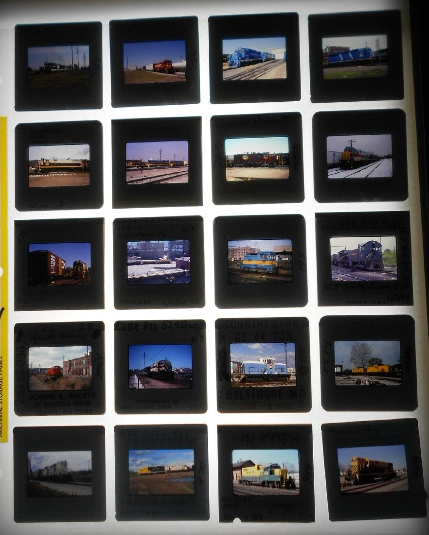 Railroad Locomotive & Rolling Stock Color Slides (200) - 6