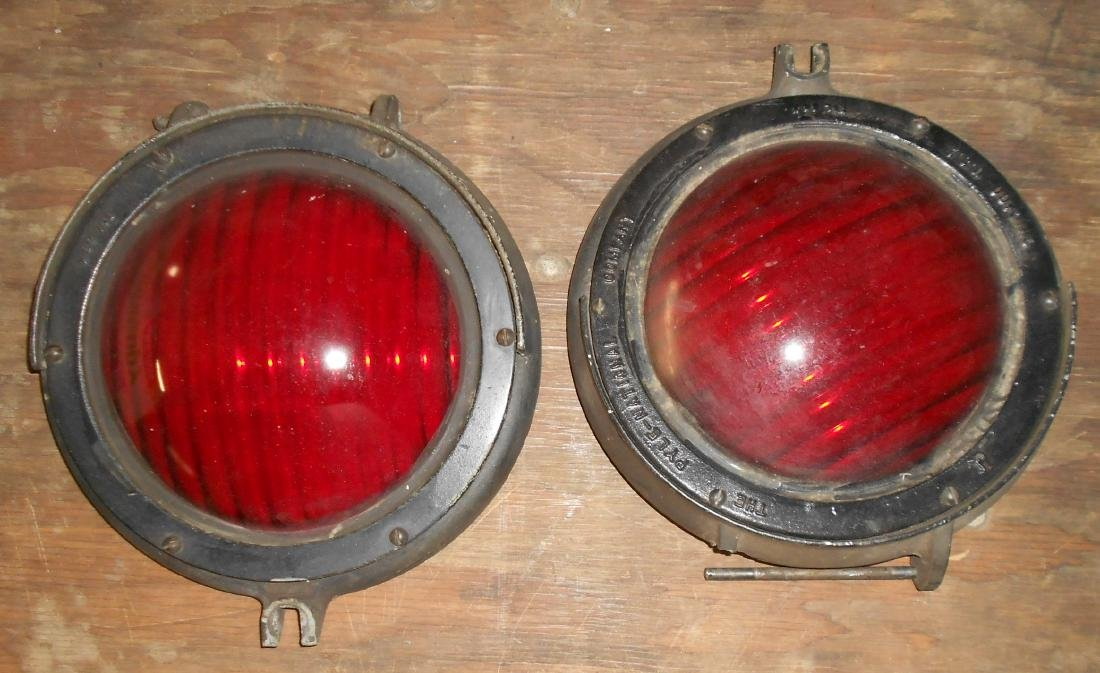 * Erie Lackawanna MU Car Headlight + Red - 8