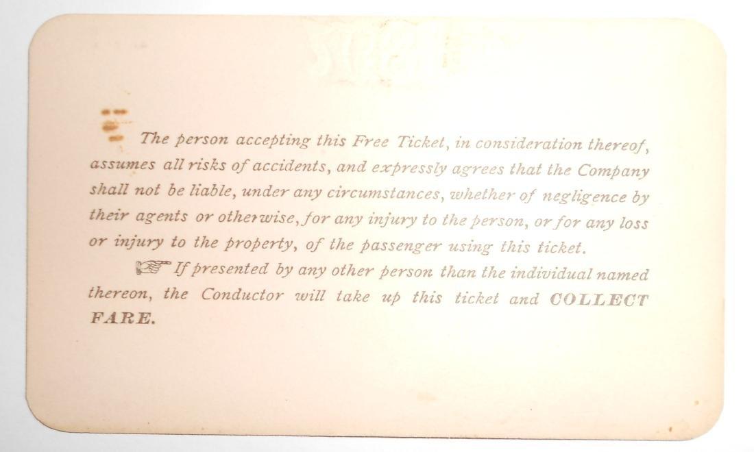 York Southern Railroad Annual Pass 1897 - 2