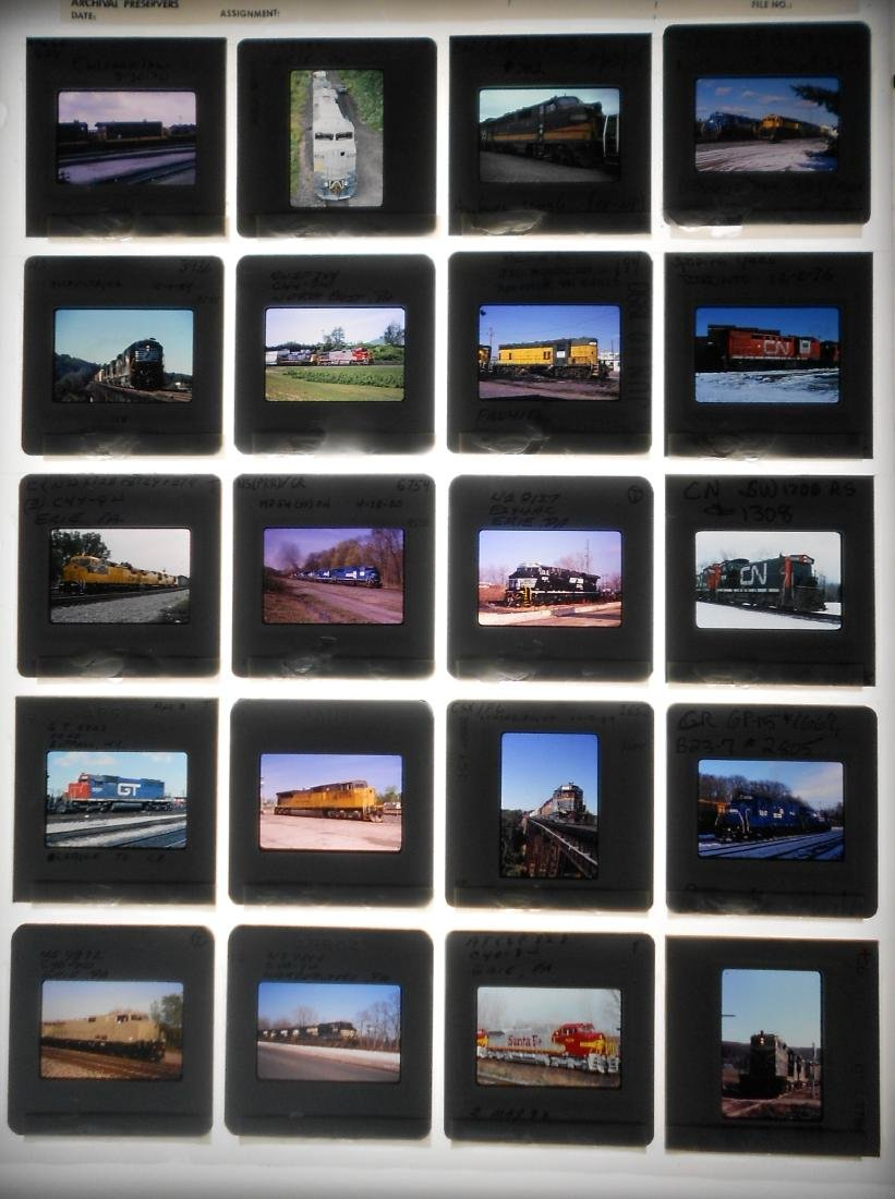 Railroad Locomotive Color Slides (199) - 3