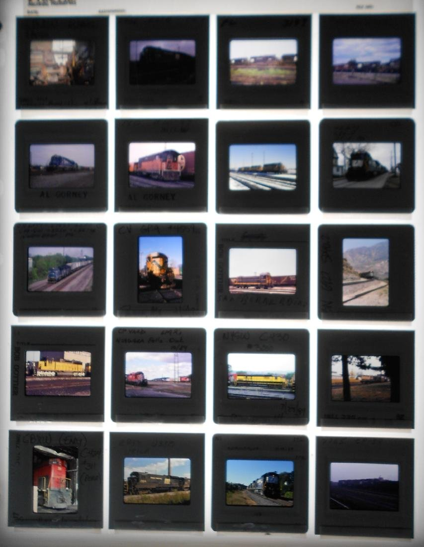 Railroad Locomotive Color Slides (199) - 4