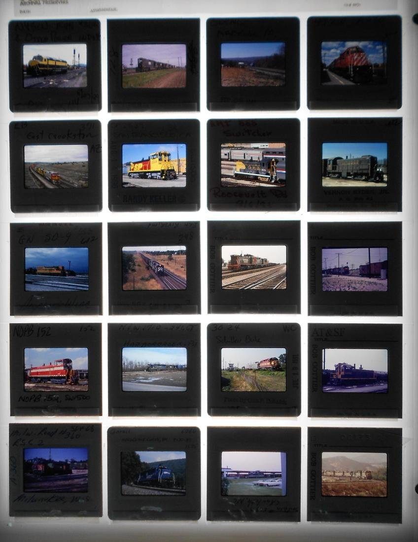 Railroad Locomotive Color Slides (199) - 5