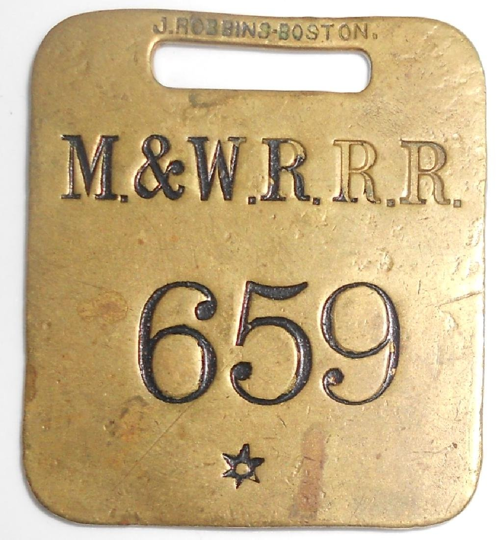Montpelier & Wells River Railroad Baggage Tag