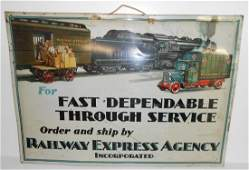 Authentic Railway Express Agency Tin Sign