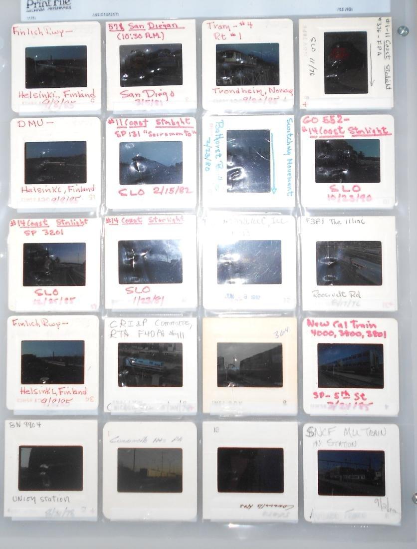 Railroad Locomotive Color Slides (218) - 6