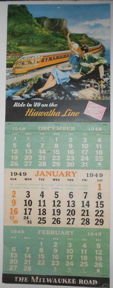 Milwaukee Road 1949 Calendar