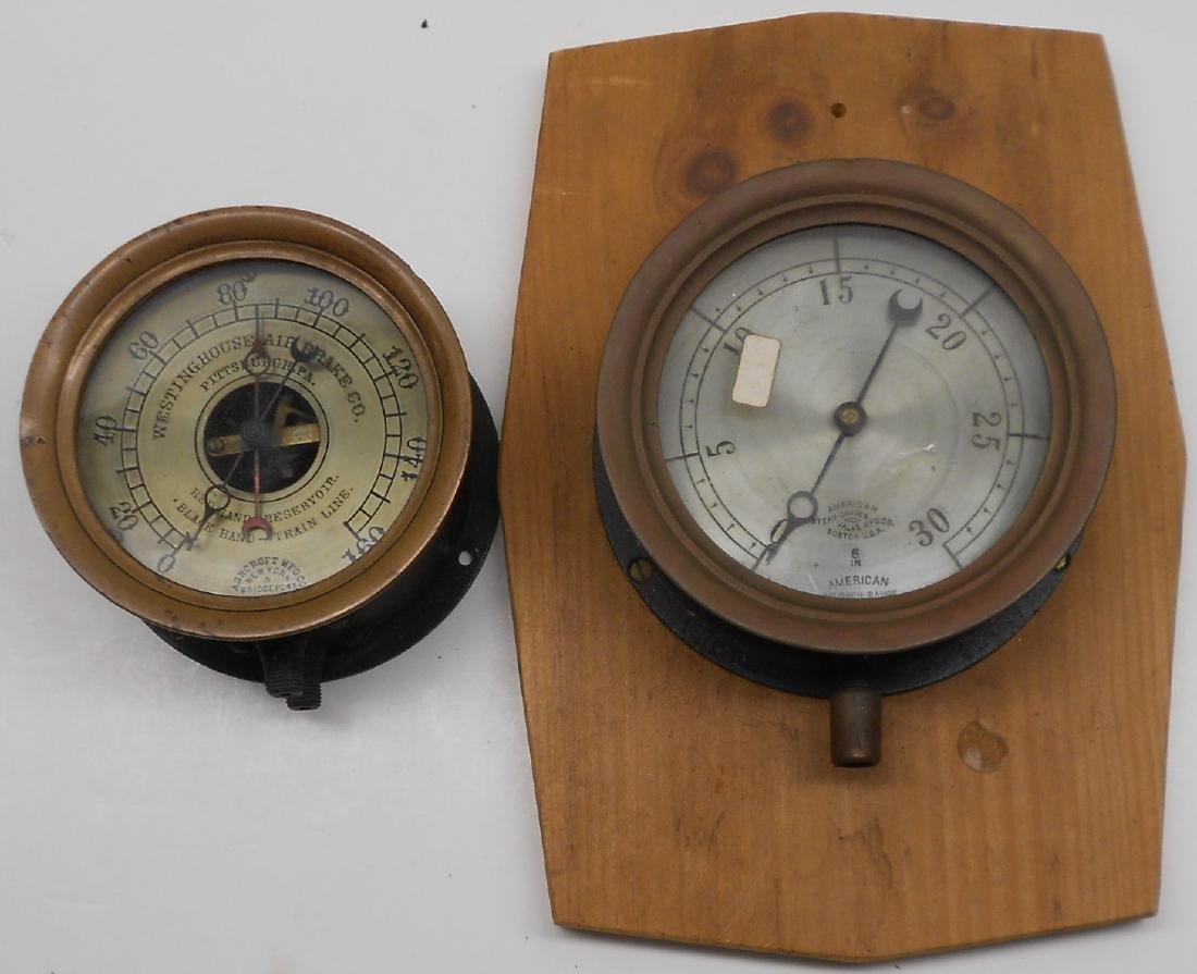 2 Gauges: Westinghouse, American Bourdon
