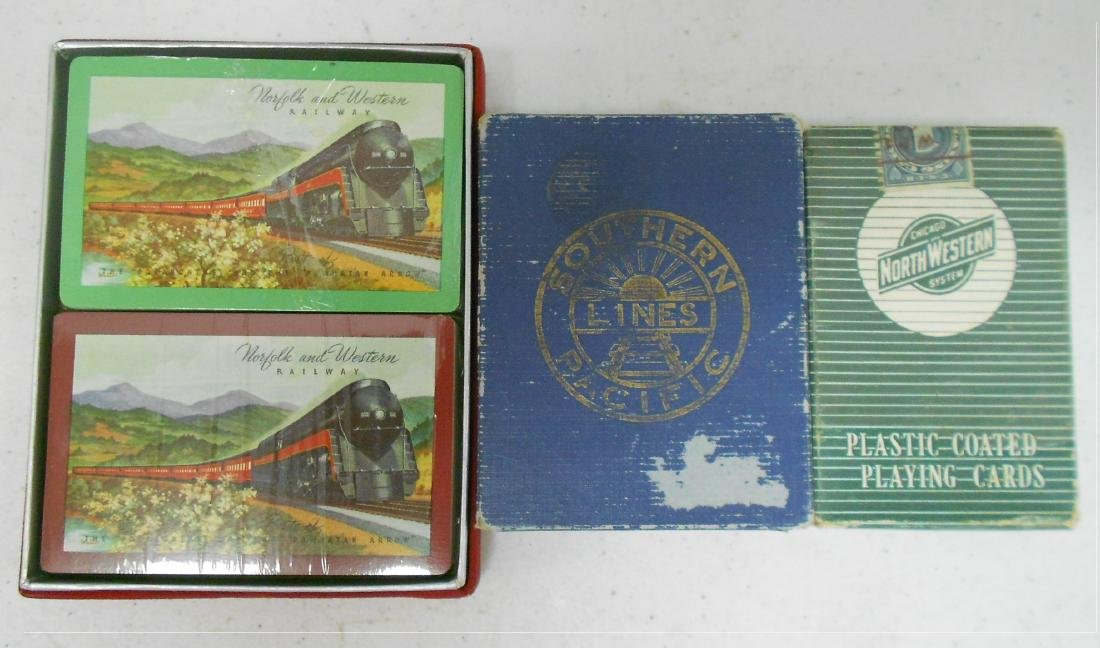 Older Railroad Playing Cards (3)