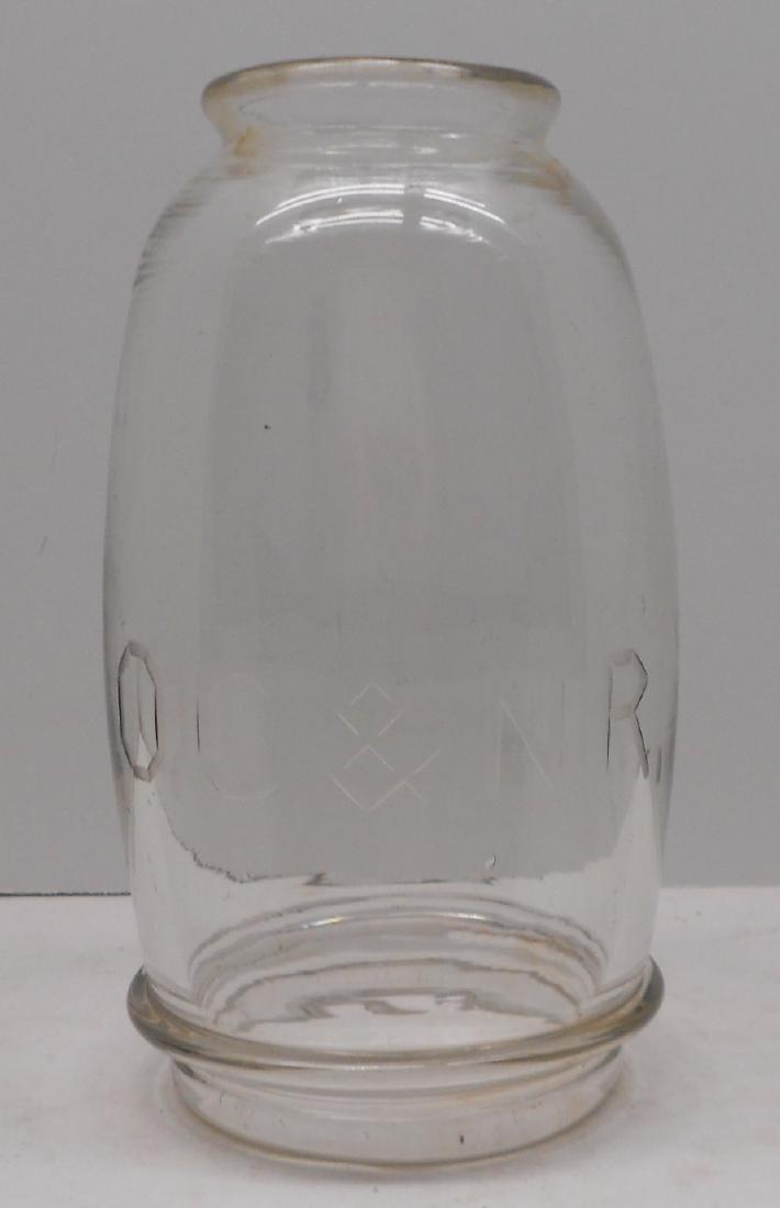 Old Colony & Newport Railway Fixed Globe from Lantern