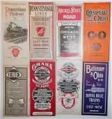 "8 Eastern Timetables"" PRR, NKP, C&O, B&O, Erie, IC"