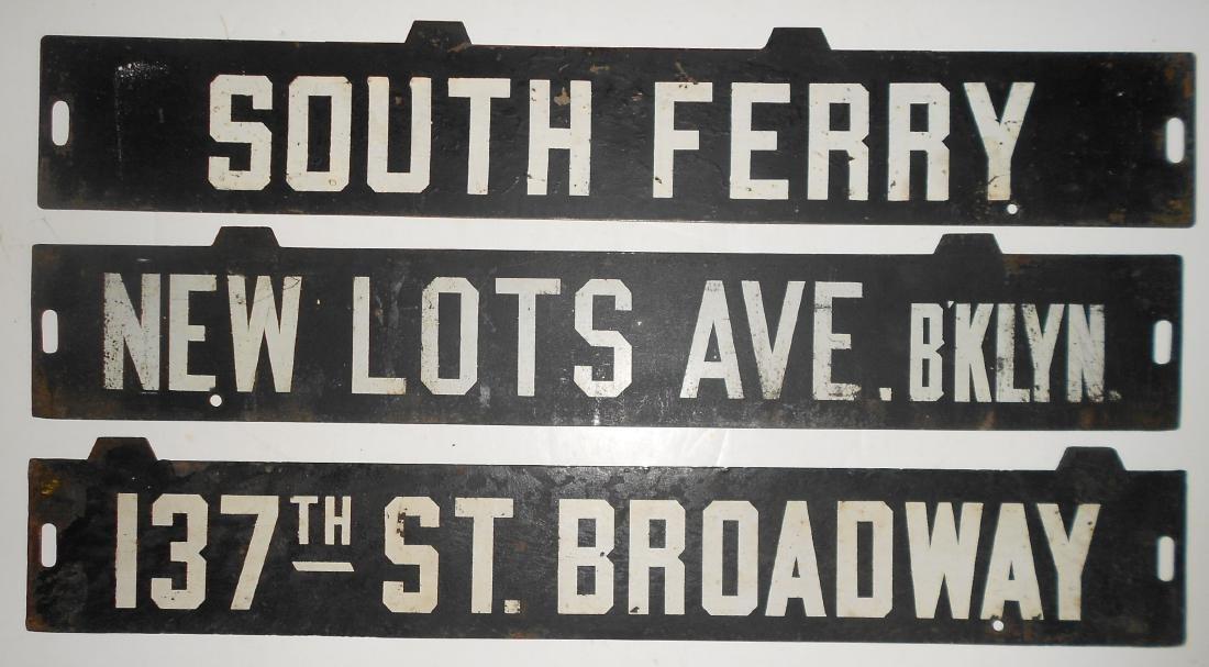 3 New York Destination Signs - Trolley Subway - 2