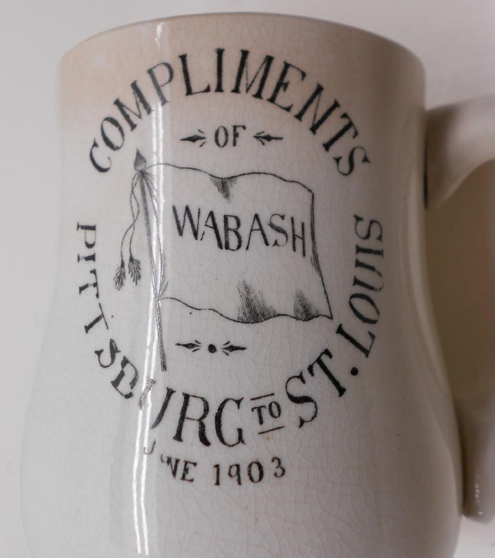 1903 Wabash Railroad Advertising Mug - 5