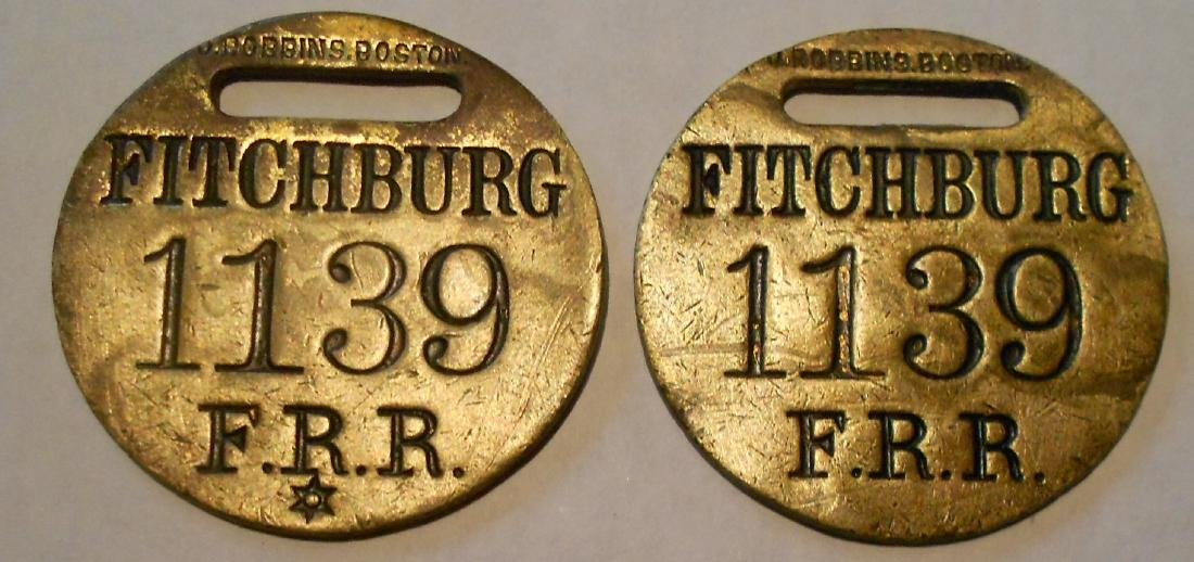 "Fitchburg Railroad Baggage Tag Set ""Fitchburg"""