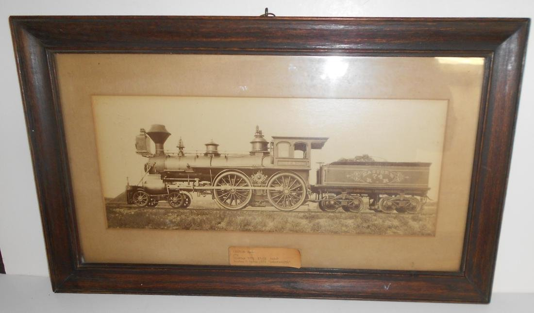 Framed Eastern Railroad Hinkley Locomotive