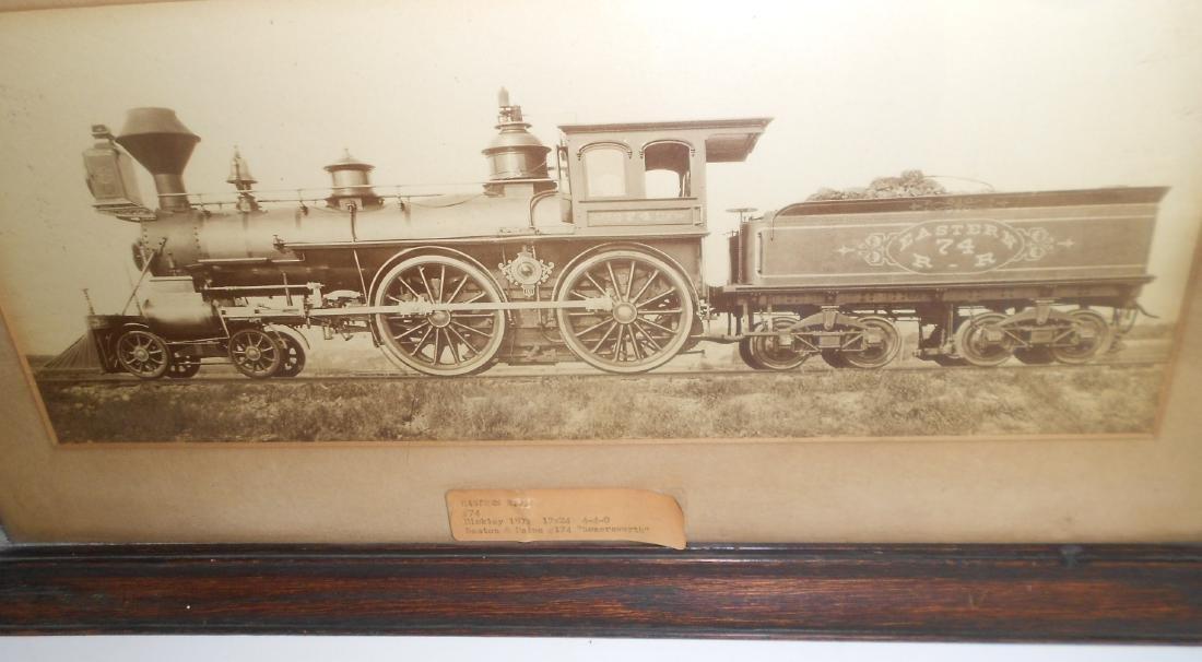 Framed Eastern Railroad Hinkley Locomotive - 2