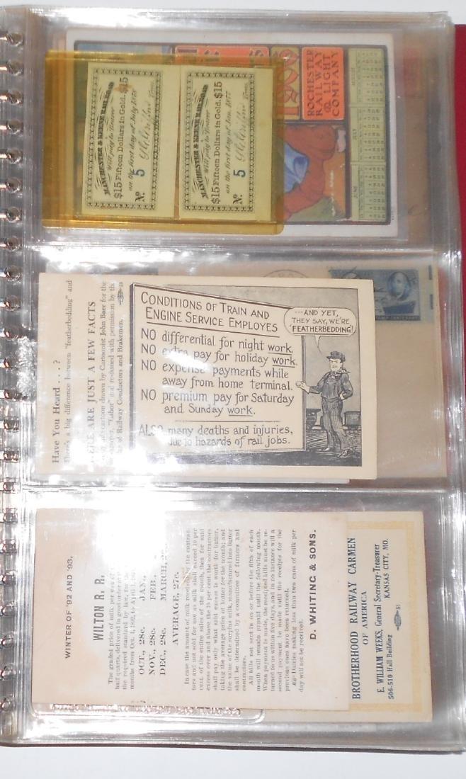 Notebook - Blotters, Trade Cards, D&H Coal - 2