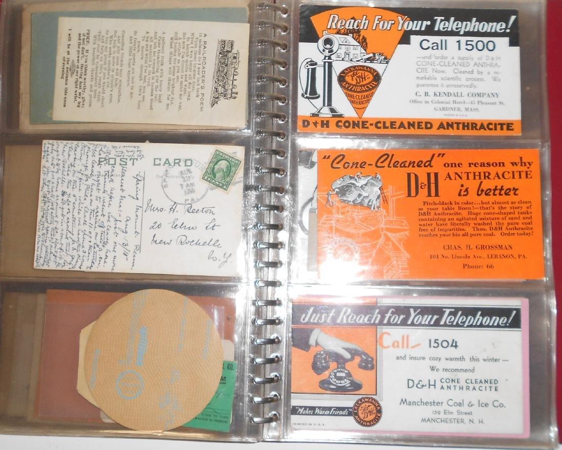 Notebook - Blotters, Trade Cards, D&H Coal - 5