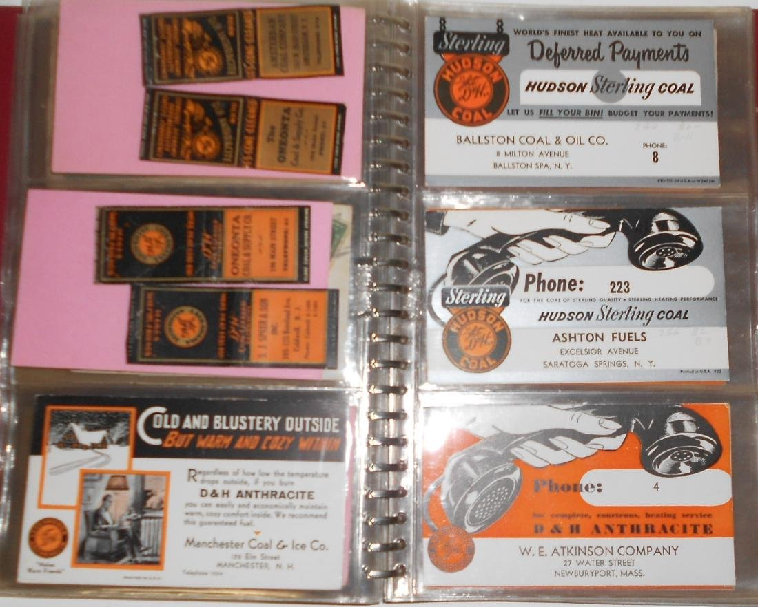 Notebook - Blotters, Trade Cards, D&H Coal - 6