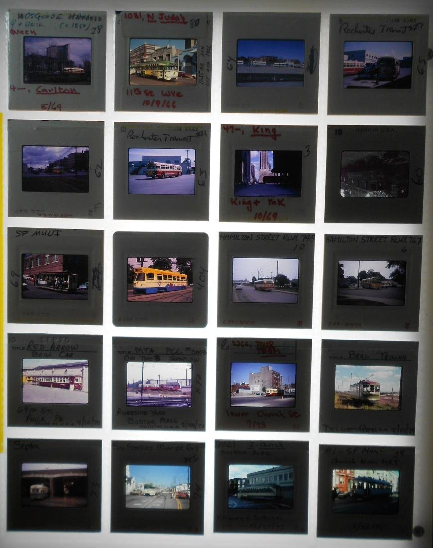 Trolley & Bus Color Slides Diverse (180) - 2