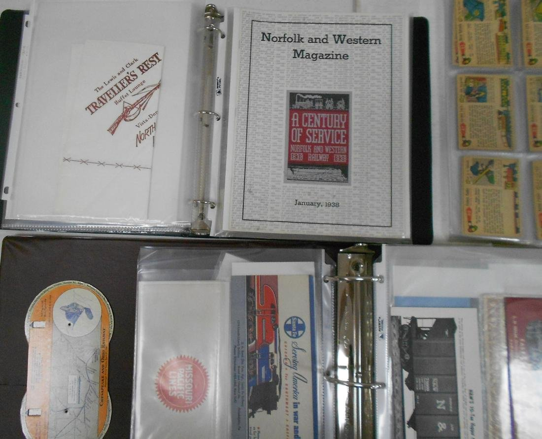 3 Notebooks of Railroad Ephemera - 2
