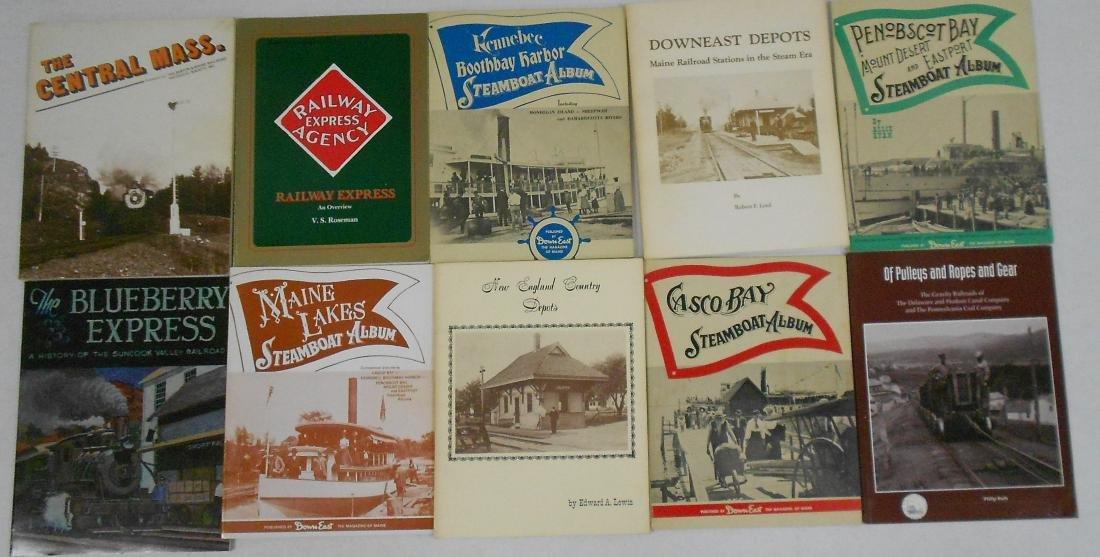 10 softcover Railroad Books