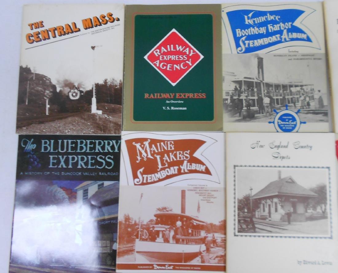 10 softcover Railroad Books - 2