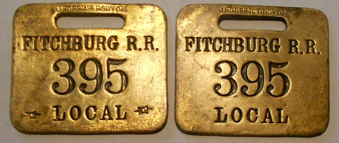 "Fitchburg Railroad Baggage Tag Set ""Local"""