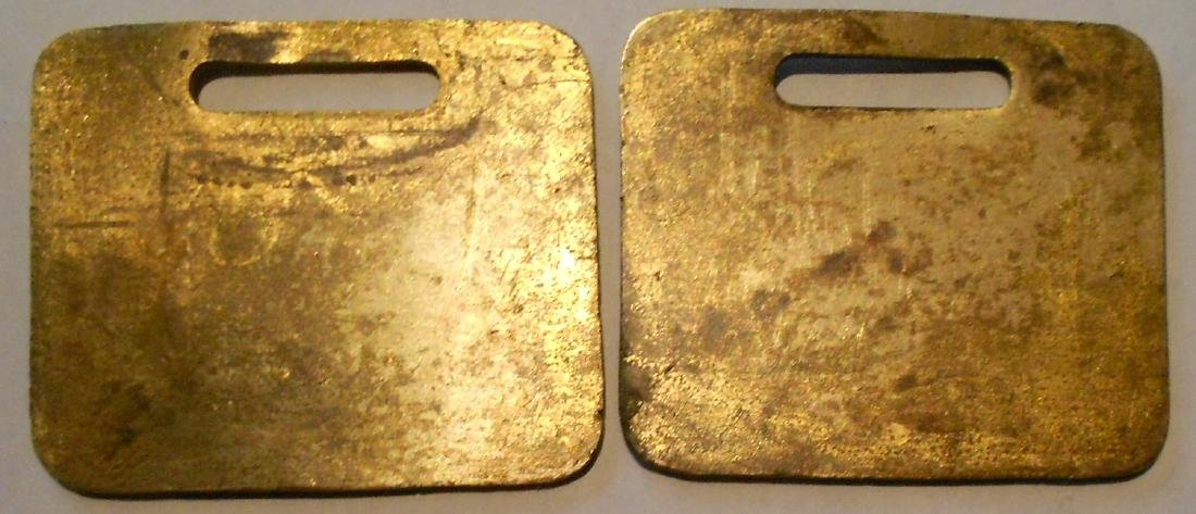 "Fitchburg Railroad Baggage Tag Set ""Local"" - 2"