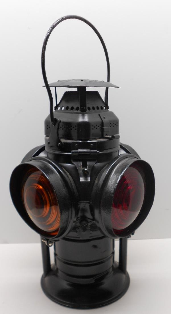 Western Style Adlake Switch Lamp Fork Base Bellbottom