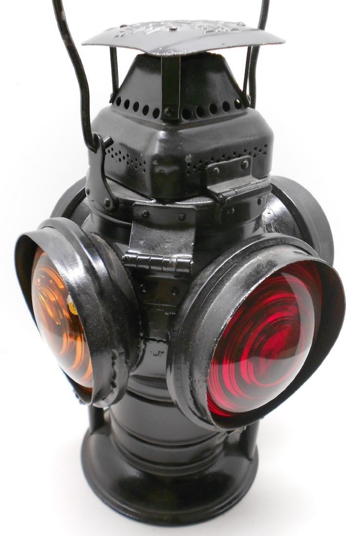 Western Style Adlake Switch Lamp Fork Base Bellbottom - 2
