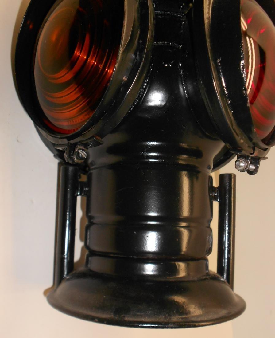 Western Style Adlake Switch Lamp Fork Base Bellbottom - 4