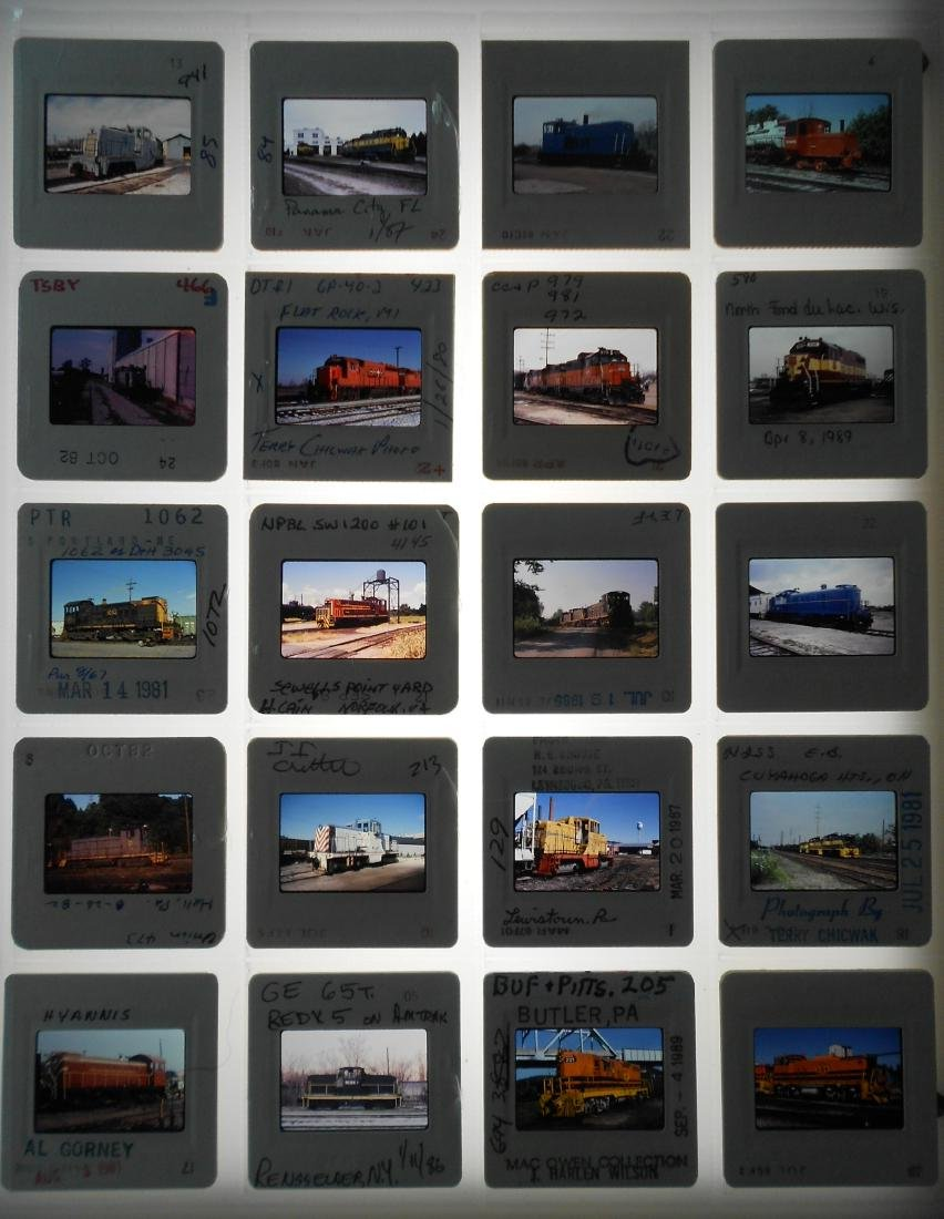 Railroad Short Line Color Slides (239)
