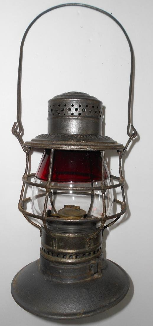 Red / Clear #39 Globe in Penna Lines BB Lantern Frame - 2