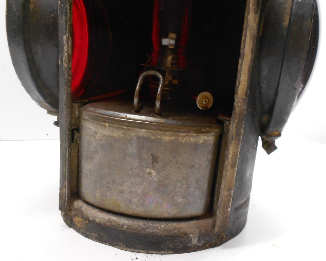 Erie Railroad Double Red Lens Lamp - 4