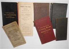 7 Employee Rule Books: RPO, NKP 1883, Eastern 1882