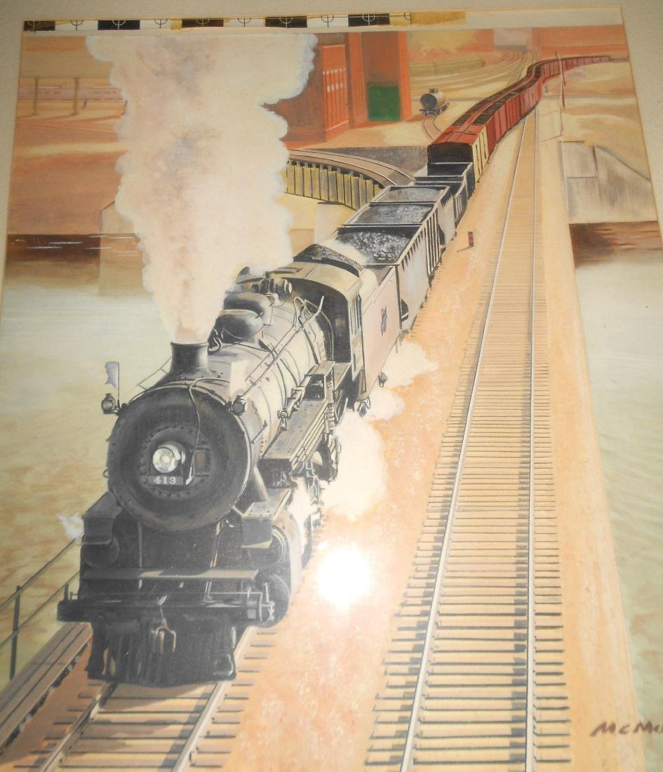 McMahon Original Watercolor Painting C&NW - 3