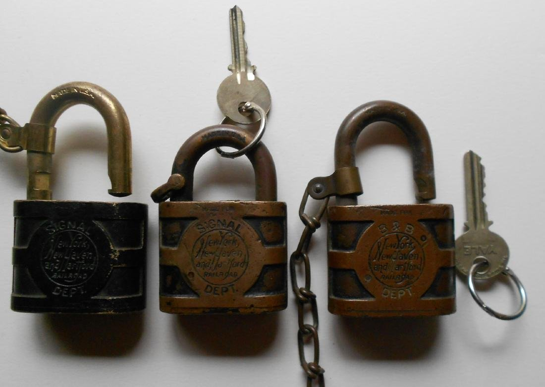 3 Yale New Haven Brass Locks: Signal B&B