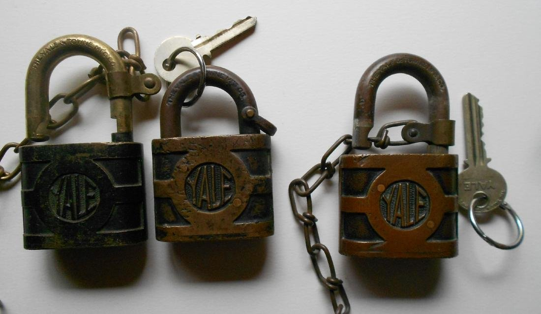 3 Yale New Haven Brass Locks: Signal B&B - 2