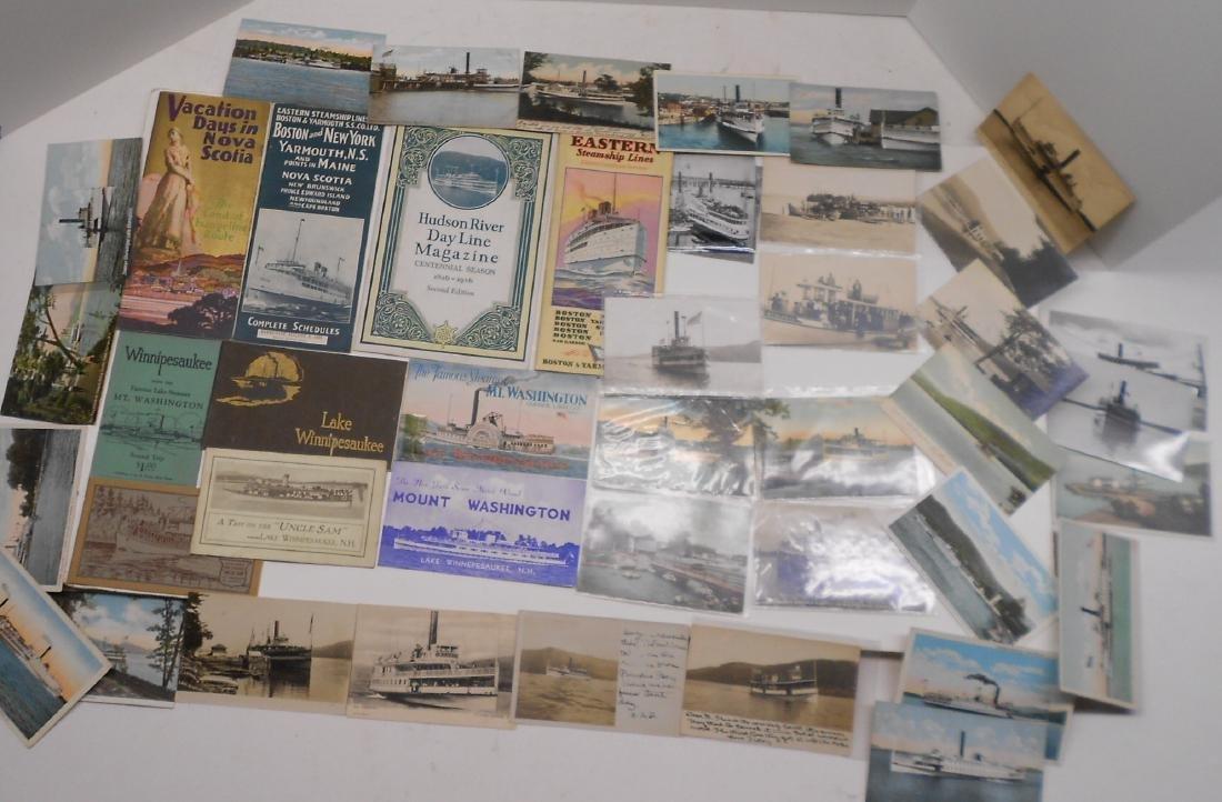 New York & New England Boat Folders Postcards