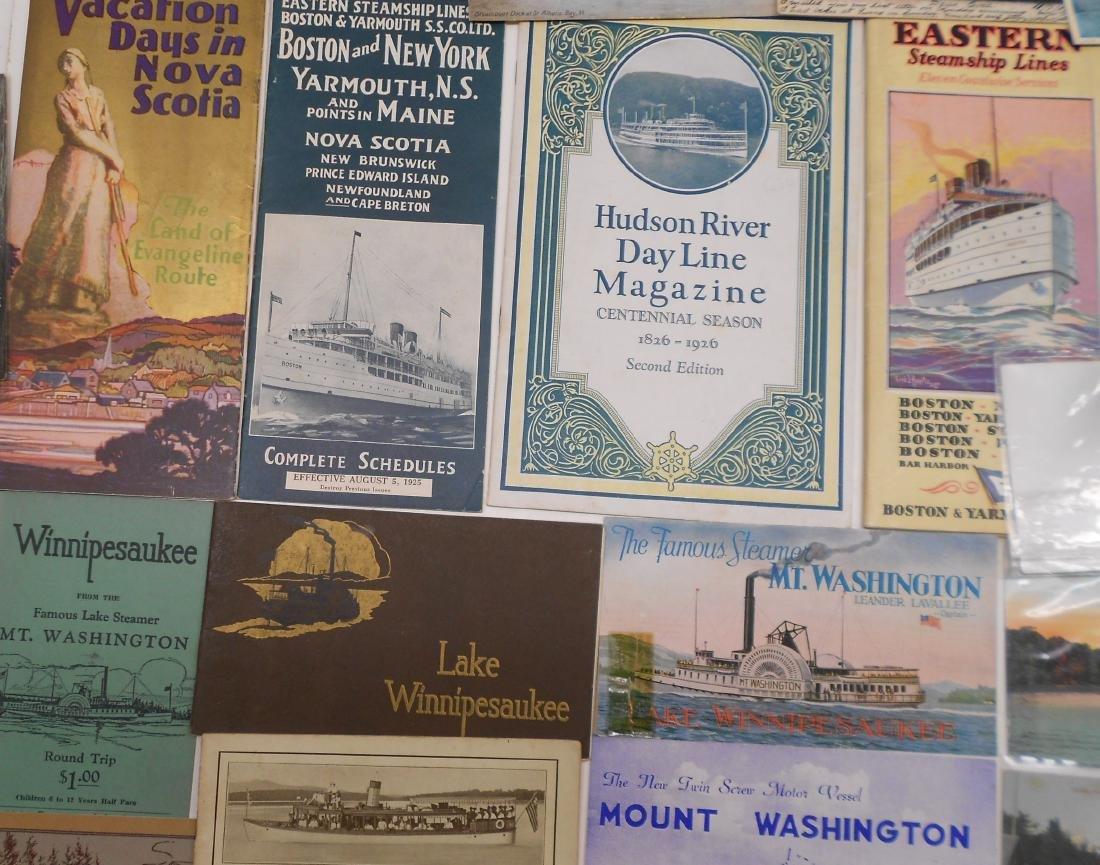 New York & New England Boat Folders Postcards - 2