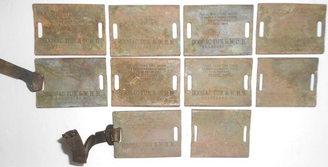 10 Hoosac Tunnel & Wilmington Railroad Baggage Tags