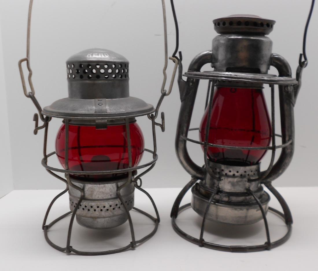 2 Short Globe Lanterns: Penn Central & NYC