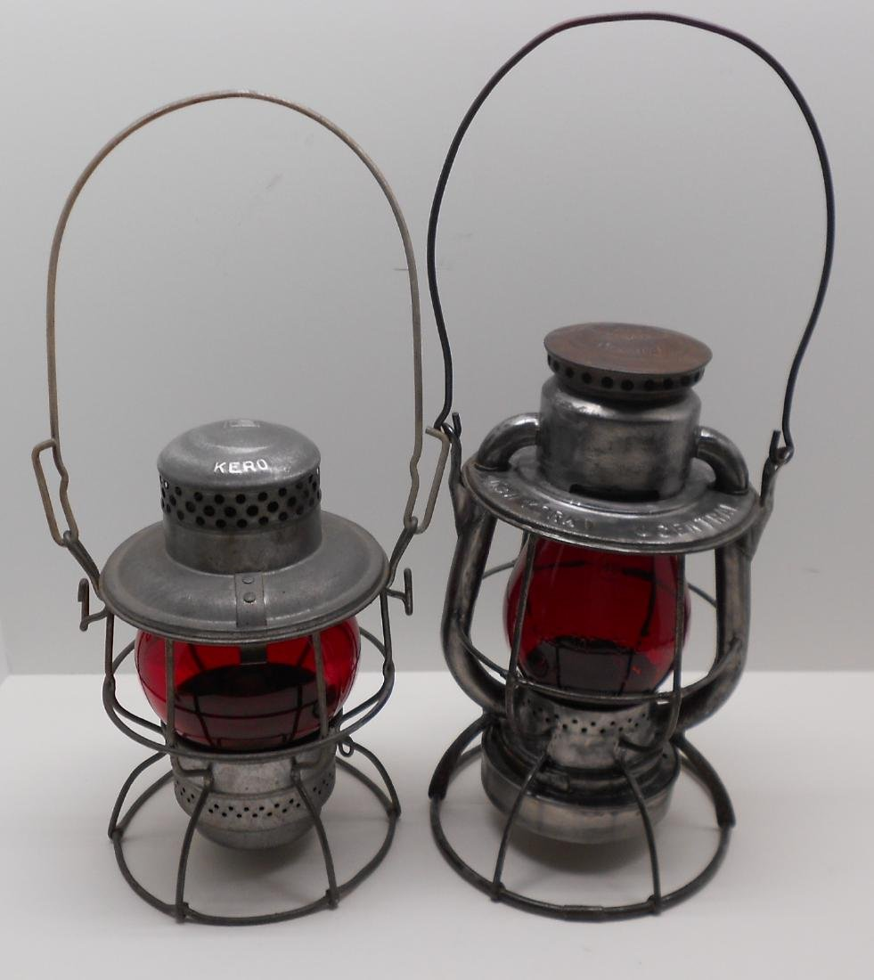 2 Short Globe Lanterns: Penn Central & NYC - 2
