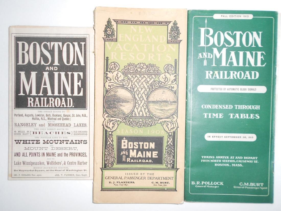 Boston & Maine Railroad Timetables & Travel Folders