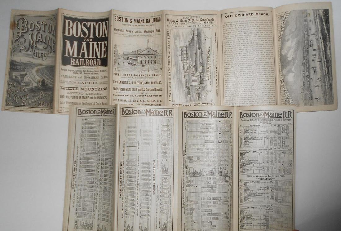 Boston & Maine Railroad Timetables & Travel Folders - 2