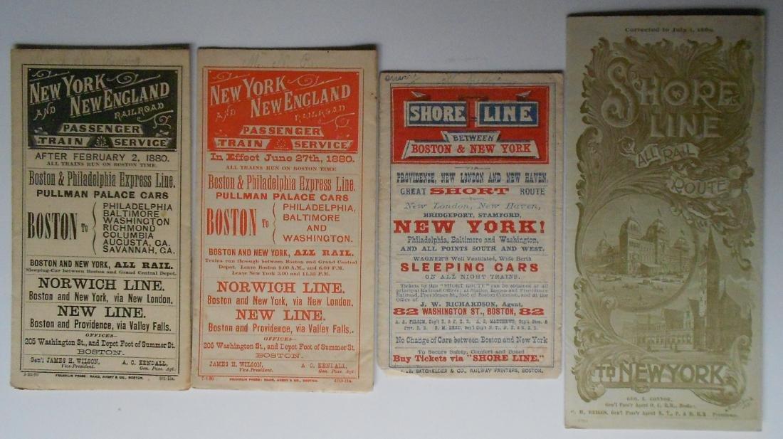 New Haven, NY&NE Public Timetables 1880-1889