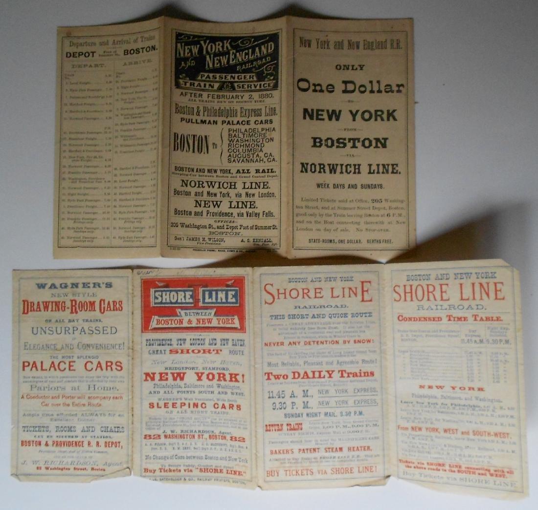 New Haven, NY&NE Public Timetables 1880-1889 - 2